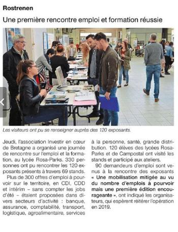 Communiqué de presse - Rencontre emploi formation - Ouest France