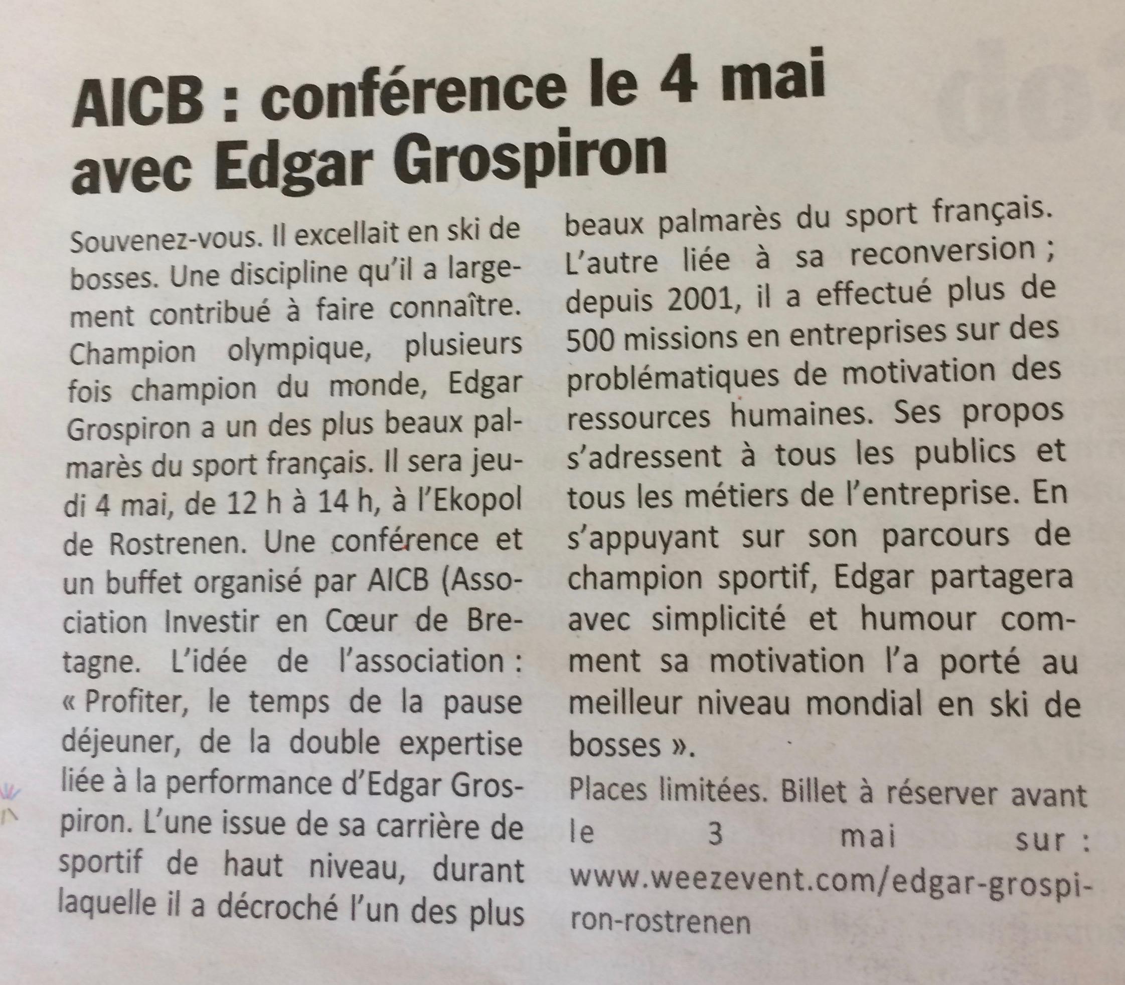 Communiqué de presse - conférence 4 mai 2019 edgar grospiron - Le Poher