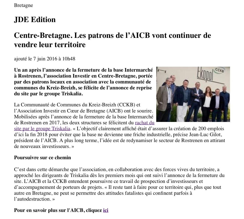 Communiqué de Presse - AICB - Journal des entreprises
