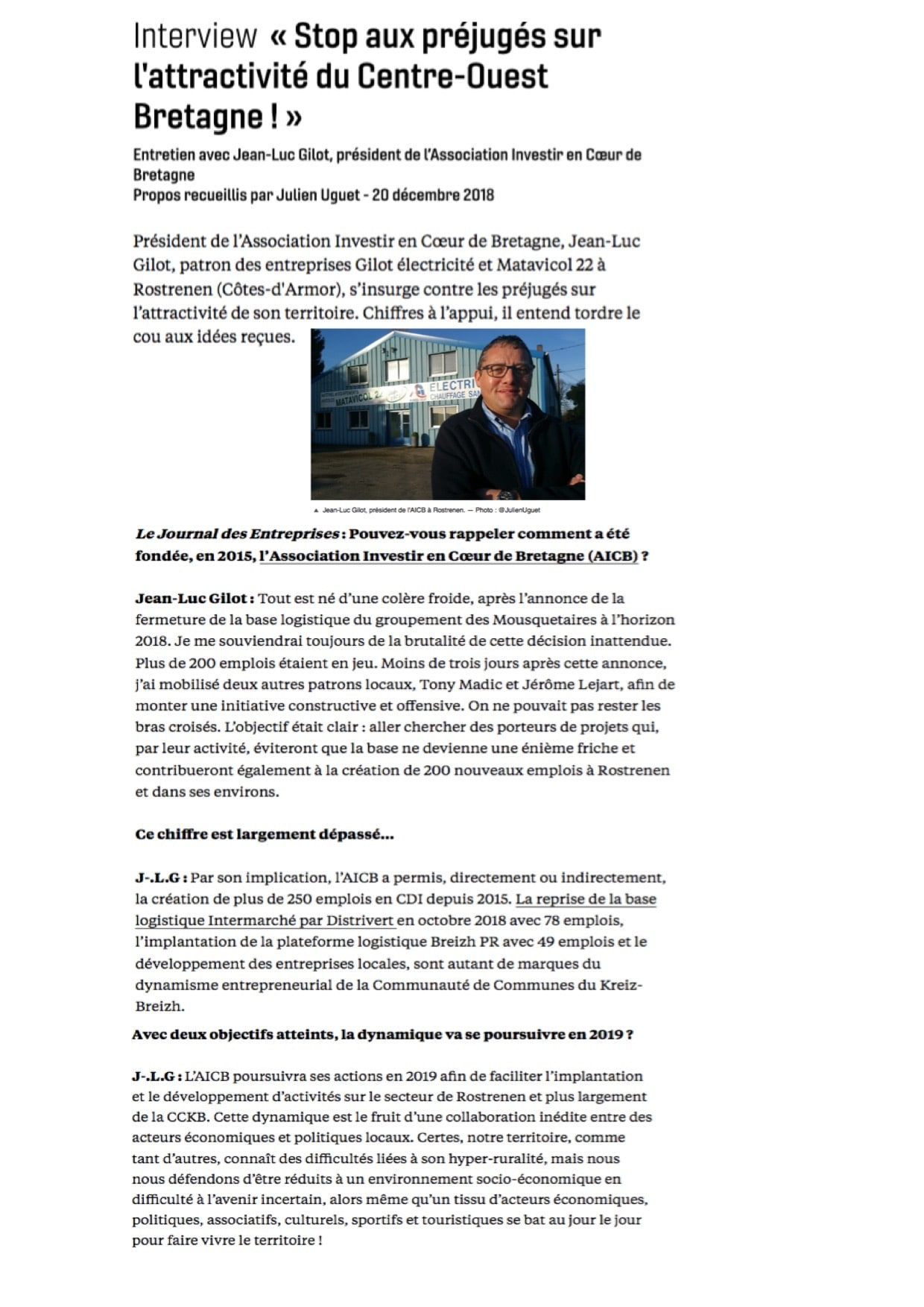 Interview - Stop aux préjugés sur l'attractivité - Journal des entreprises