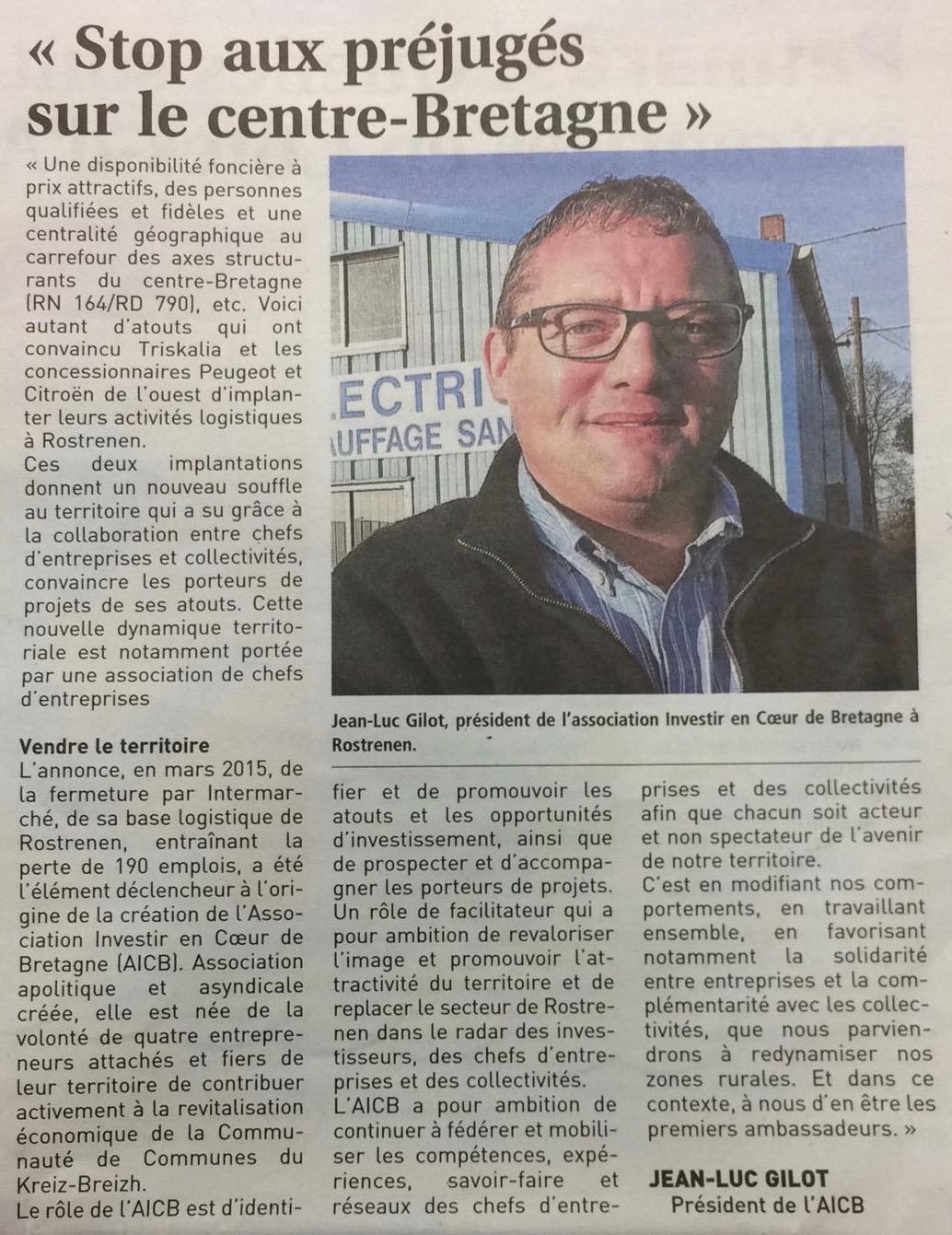 Communiqué de presse - AICB - Jean-luc Gilot - Journal des entreprises