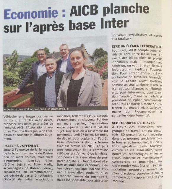 Communiqué de presse - AICB planche sur l'après base Inter - Le Poher