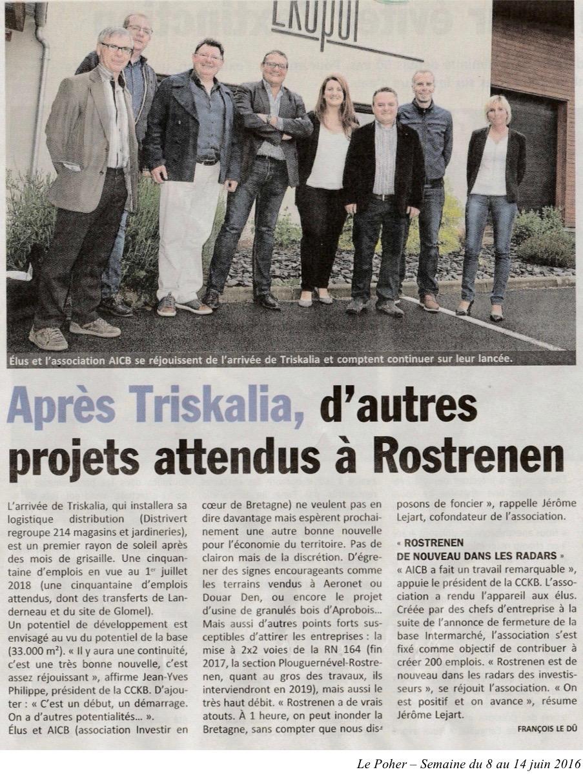 Communiqué de presse - après triskalia, d'autres projet attendus à rostrenen - Le Poher