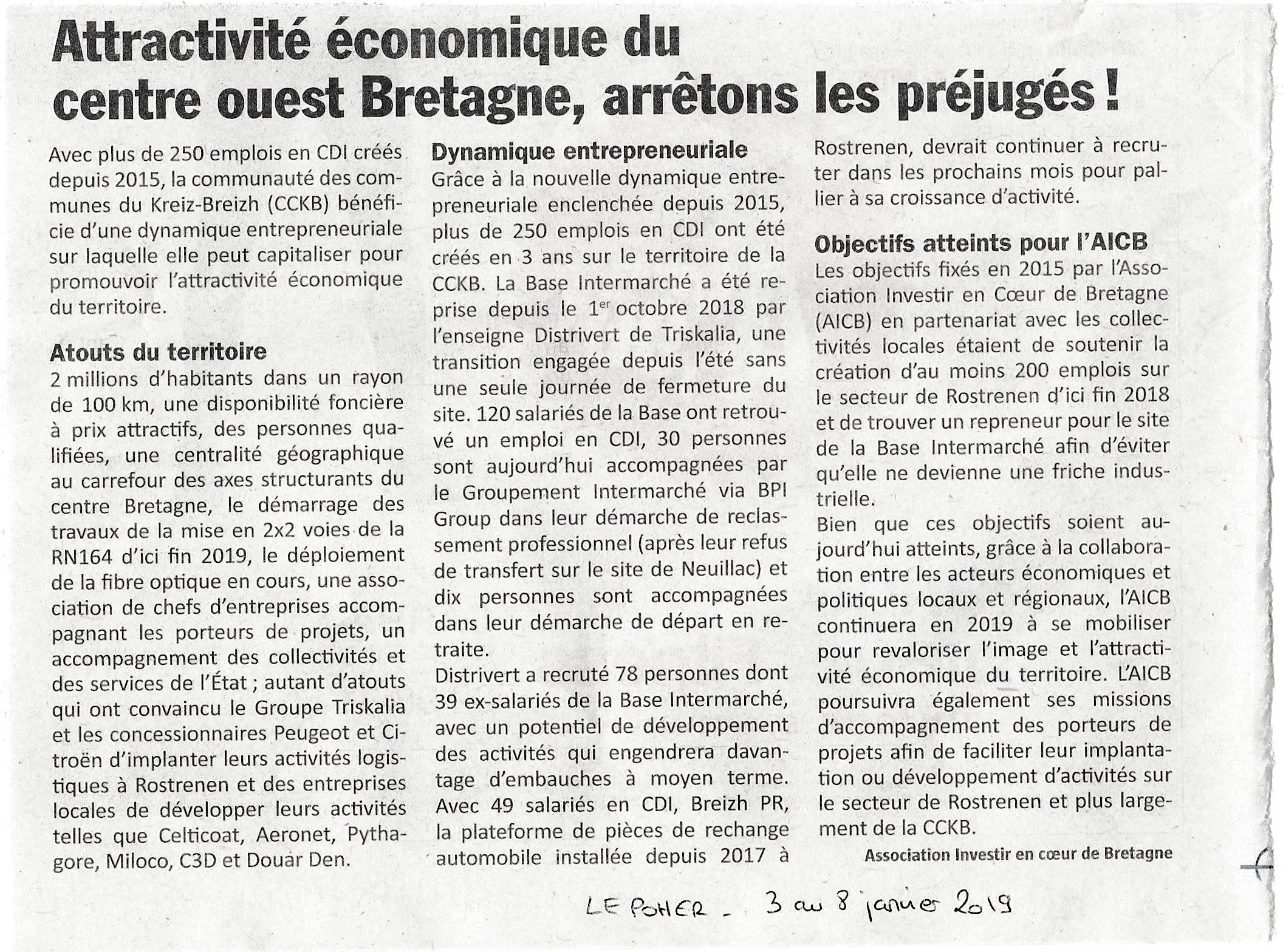 Communiqué de Presse - Attractivité économique - Le Poher