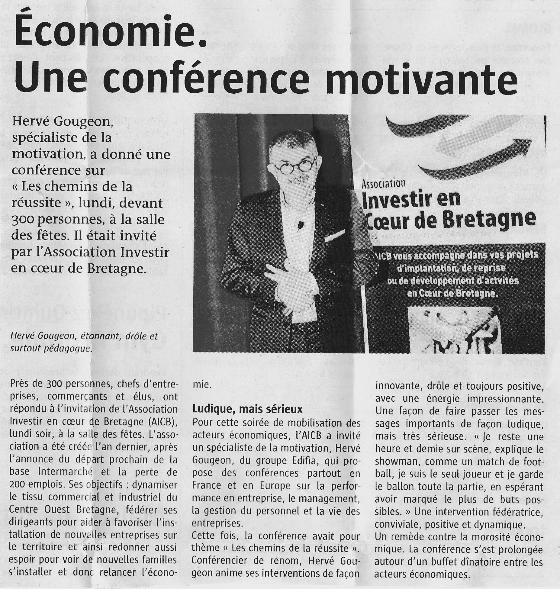 Communiqué de Presse - Conférence motivante - Le télégramme