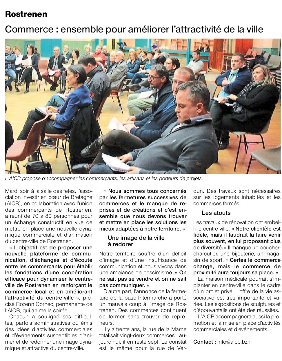 Communiqué de Presse - Commerce, ensemble pour améliorer l'attractivité de la ville  - Ouest France