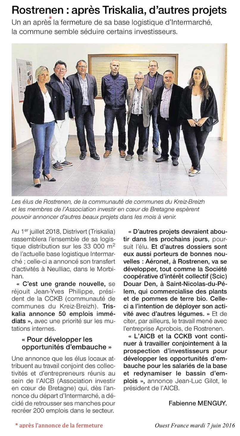 Communiqué de presse - Rostrenen, après triskalia, d'autres projets - Ouest France