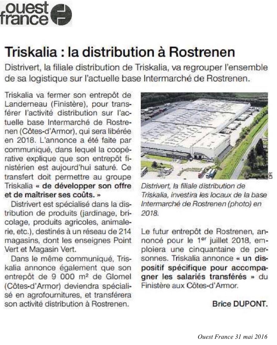 Communiqué de Presse - Triskalia, la distribution a Rotrenen - Ouest France